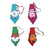 TOYMYTOY Corbata de Navidad para niños, 4 unidades, decoración navideña
