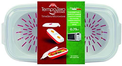 Snips 702 Tempo Zero Egg Poacher and Omelette Maker 0.75 Liter, Plastic, Red