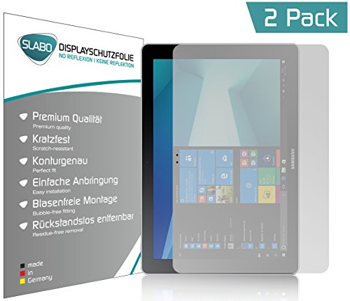 Slabo 2 x Bildschirmschutzfolie für Samsung Galaxy Book 10.6