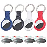 AirTag Keychain 4 New Air Tag Holder Accessories and 4 Airtags Protective Films
