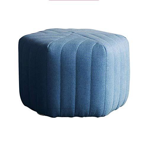WEIZI Artículos para el hogar Puf de Interior Puf otomano Taburete Redondo tapizado en Forma de Cubo Puff Taburete Puff Asiento Zapatero Taburete-a 45x45x30cm (18x18x12inch)