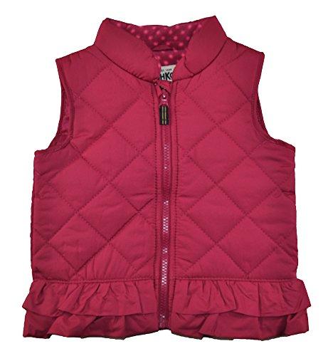 Osh Kosh B'Gosh Baby Girls Infant Ruffled Vest, Rasberry 24M