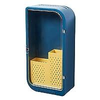 haohaiyo 多機能キッチン収納ラック 箸立て 包丁立て 壁掛け 省スペース 水切り きれい 磁気ドア付き 防水性と防塵性 お手入れ簡単 台所収納 4色選び