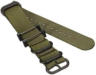 TT WARE Replacement Nylon Watch Band Strap Bracelet For Suunto Essential/Core/Traverse Series 29 x 2.5cm-Green
