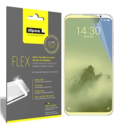 dipos I 3X Schutzfolie 100prozent kompatibel mit Meizu 16 Plus Folie (Vollständige Bildschirmabdeckung) Bildschirmschutzfolie