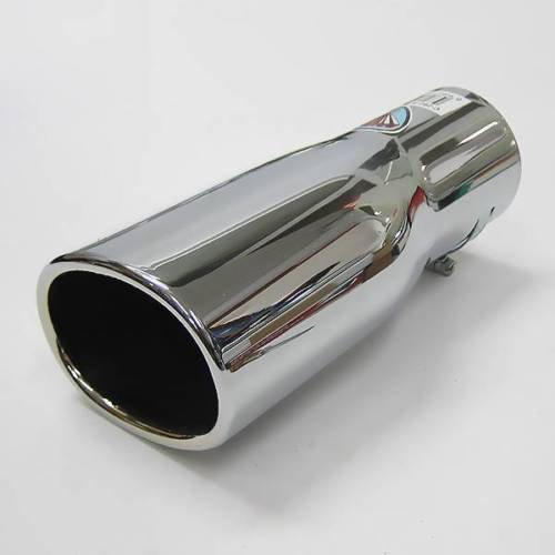 Autohobby 324 - Embellecedor de tubo de escape, universal, acero inoxidable, hasta 57 mm, cromado, A B C G H J CC 3 4 5 6 7