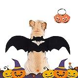 Alas para Mascotas de Halloween, Disfraz de Murciélago para Gatos,Cosplay de Murciélagos de Moda para Gatos y Perros,Ajustable Ropa de Murciélago del Mascotas, Pet Cosplay Props (S)