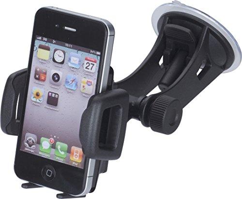 hr-imotion Universelle Kompakte Halterungslösung für alle Smartphones zwischen 42mm & 78mm Breite [5 Jahre Garantie | Made in Germany | 360 Grad drehbar | vibrationsfrei] - 22010301