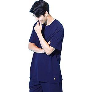 (ポロラルフローレン) POLO RALPH LAUREN クルーネック Tシャツ メンズ RELAXED FIT ロゴ ポニー トップス カットソー ルームウェア 大きい おしゃれ 部屋着 (l161) 海外M(日本L相当):クルーズネイビー [並行輸入品]