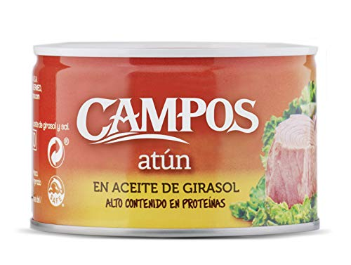 CAMPOS, Conserva de atún en aceite de girasol - lata de 400 g (320401002) ⭐