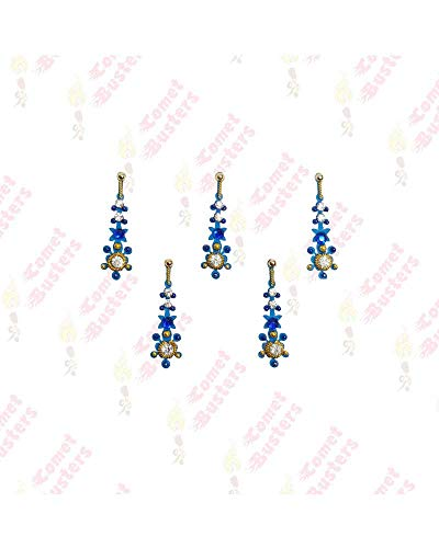Comet Busters Traditional Long Blue Bindis