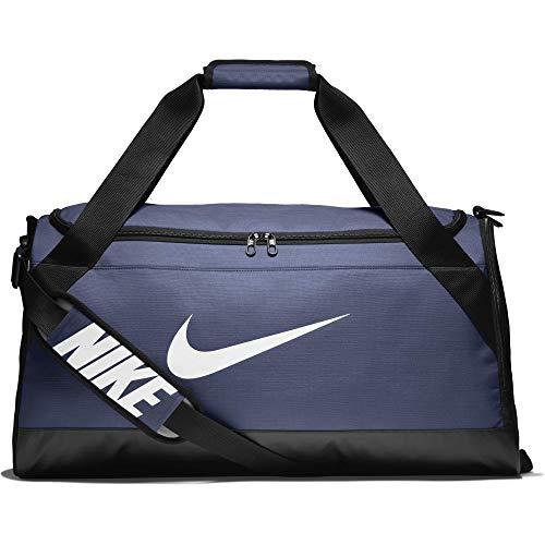 Nike UnisexSporttasche Brasilia Duff Klassische Sporttaschen, Blau (Midnight Navy/Schwarz/Weiß), Einheitsgröße