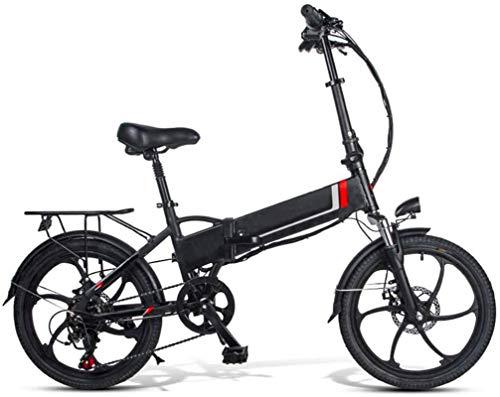 RDJM Bici electrica Bicicletas 350W Plegable Bicicleta eléctrica de 48V Nieve Playa Eléctrica en Adultos Frenos de Disco Doble, 20 Pulgadas de E-Bici Ciudad de Bicicletas Velocidad máxima 30 km/h, 3