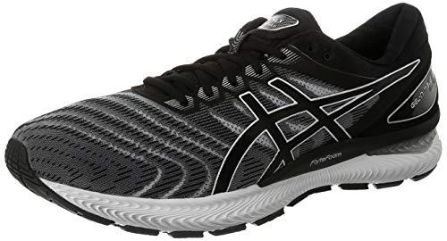 ASICS Herren Gel-Nimbus 22 Running Shoe, Weiß/Schwarz, 45 EU