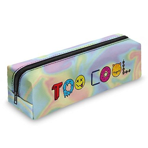 Too Cool For School estuche escolar–Estuche escolar Bolígrafos estuche caja lápices Escuela Maquillaje Pinceles Box