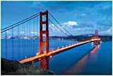 Wallario Poster - Golden Gate Bridge in San Francisco USA