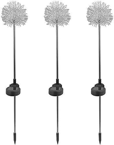 Ghongrm 10 unids LED Luz Solar, Patio al Aire Libre Lámpara de decoración de jardín Privado Simulación Artificial Dandelion Solar Lámpara de Tierra