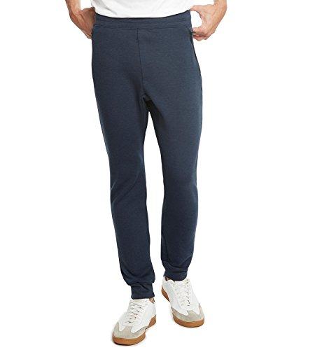9 Crowns Essentials calça masculina de flanela e corrida de qualidade superior IP, Azul marino, Large