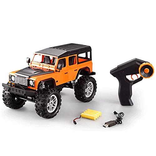 Wireless Remote Control Model Dirt Bike Truck Motors Drive Remotes Climbing Wall Car High Speed Rc Racing Model Super Big Children's Toy Cars (Color : Orange)