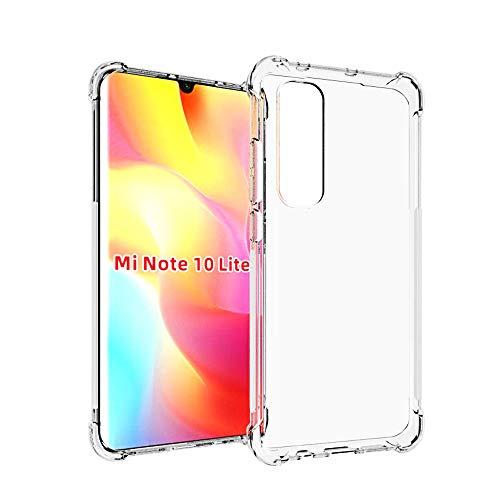 HUUH Funda para Xiaomi Mi Note 10 Lite,TPU Ultrafino,Altamente Transparente,no deformable,Duradero,Engrosado en Cuatro Esquinas,Caja del teléfono Anti-caída