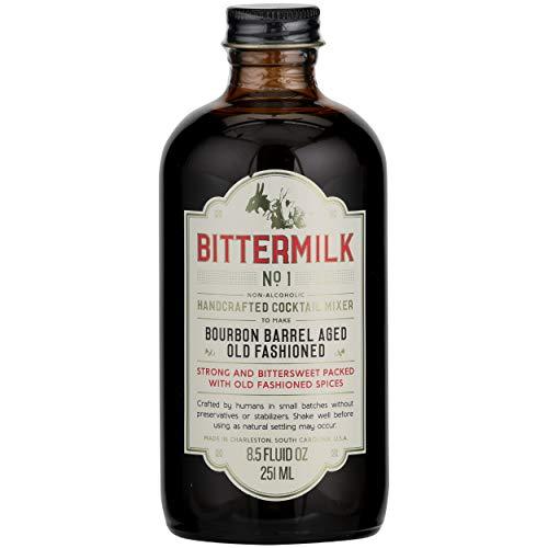 Bittermilk No.1 Bourbon Barrel Aged Old Fashioned Cocktail Mix, 8.5 oz