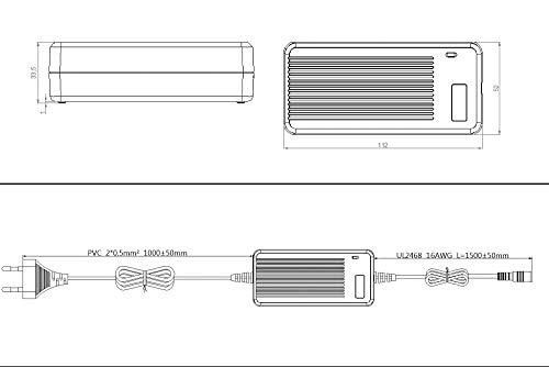 Poppstar Universal Netzteil (5V, 6V, 7.5V, 9V, 12V bei 3A) (13.5V u. 15V bei 2,4A) Schaltnetzteil mit 8 Adaptersteckern u. LED, Kabellänge 2,5m