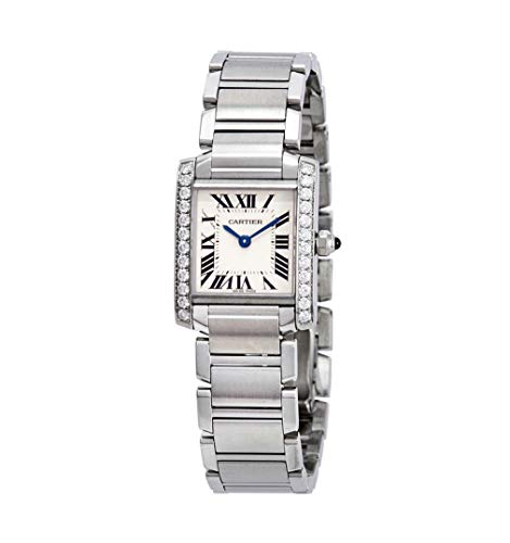 Cartier Tank Francaise 2384 - Reloj de cuarzo suizo para mujer (certificado prepropietario)