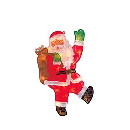 """Konstsmide, 2850-010, LED obraz na okno, """"Święty Mikołaj"""", 20 diod w kolorze ciepłej bieli, 230 V, wewnątrz, biały kabel"""