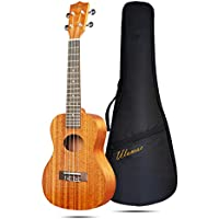Ulumac Concert Ukulele C-30 23 inch Professional Mahogany Solid Top Ukelale for Adults, Kids & Beginners