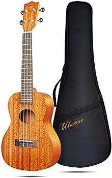 Ulumac Concert Ukulele C-30 23 inch Professional Mahogany Solid Top Ukelale