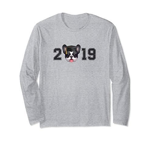 Brindle Pied French Bulldog Graduation Long Sleeve T-Shirt