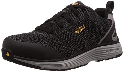 KEEN Utility Men's Sparta Industrial Shoe, Black/Grey Flannel, 10.5 D, 10.5D
