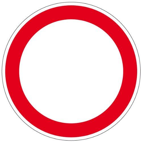 Verbotszeichen - Durchfahrt verboten - Aluminium - Ø 40 cm