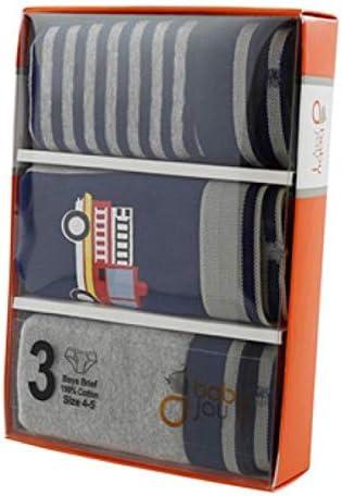 Baby Jay Navy Tagless Cotton Boys Briefs 3 Pack Ultra Soft Boys Underwear