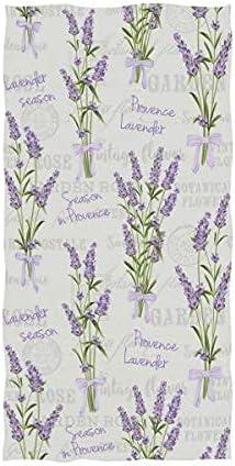 Stylish Lavender Flowers Vintage Pattern Ha 25% OFF Absorbent Soft Large Max 59% OFF