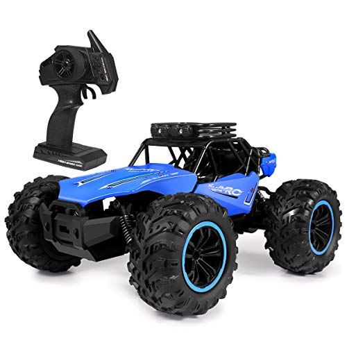 JulyPanny RC Car, 2.4 GHZ High Speed Racing Car, 1:18 All Terrains Electric Toy Off Road RC Monster Vehicle Truck Crawler for Kids and Adult, 2WD Remote Control Car