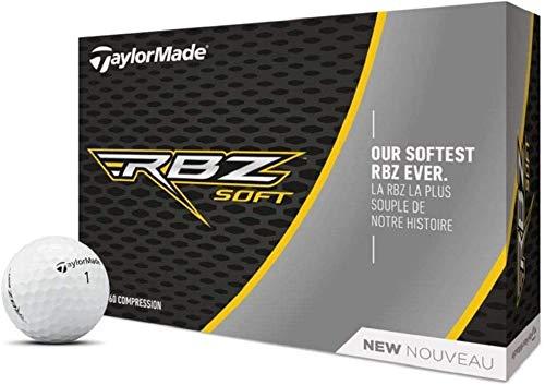 TaylorMade RBZ Soft Pelotas de Golf, Unisex Adulto, Blanco, 12 Unidades