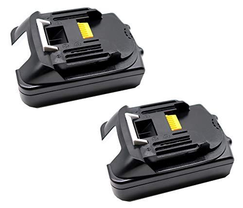 FengWings® 2 trozo BL1815 BL1830 AP-183 18V 1500mAh Reemplace la batería compatible con Makita 196235-0 194205-3 194309-1 194513-2 LXT400 194204-5 195445-6 BMR100 BL1815N