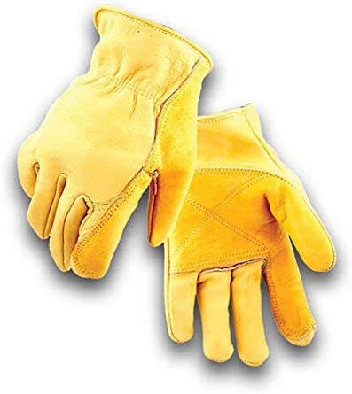 Year-end gift Golden Stag Double Palm Sale Special Price Cowhide Medium 207 Glove