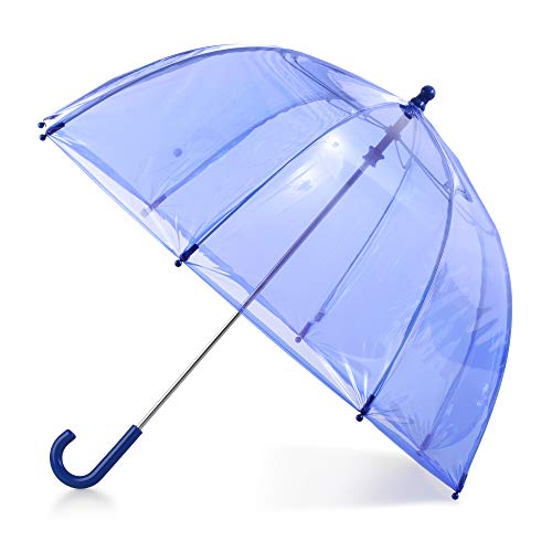 totes Kids Clear Bubble Umbrella with Easy Grip Handle, Blue