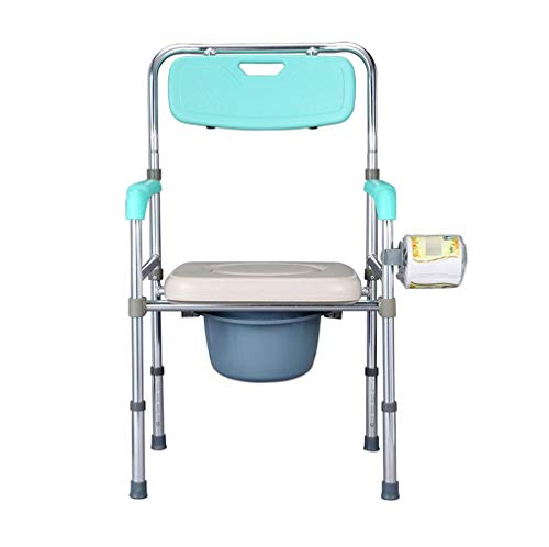 Z-SEAT Silla de Inodoro Plegable Junto a la Cama con Brazos, Silla de Ducha médica portátil de Altura Ajustable, para discapacitados Adultos, Ancianos