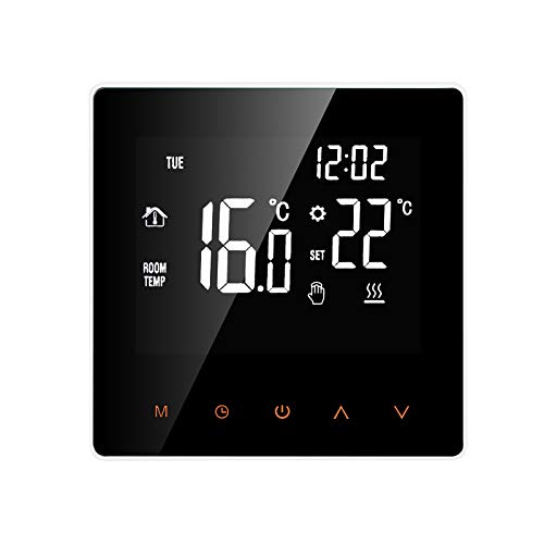 Wi-Fi Smart Thermostat,KKmoon Smart Thermostat Water/Gas Boiler Digital Temperature Controller Touchscreen LCD Display Week Programmable Anti-freeze Function Water Heating Thermostat