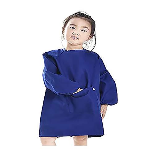 Malschürze, Kinder Bastelkittel, Kinderschürze (7-11 Jahre, blau)
