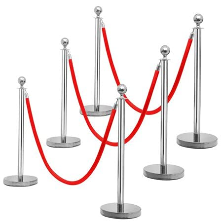 Hot Style 2 PCS Spring new work Stanchion outlet Post Crowd Cont Velvet Queue Rope Pole
