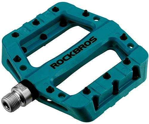 ROCKBROS Pedali per Bici MTB in Nylon ASSE 9/16 Universali Impermeabile Antiscivolo Antipolvere Leggeri