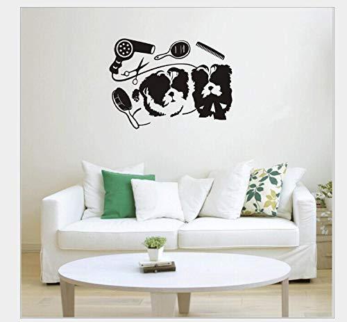 Pegatinas De Pared Decorativas Perro Mascota Serie Generación Tallada Personalidad Dormitorio Estudio Tienda De Mascotas Ventana Fondo Pared 56 * 42 Cm
