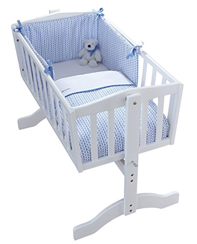 Barley Bébé Crib/Cradle Quilt & Bumper Bedding Set - Couette et pare-chocs de...