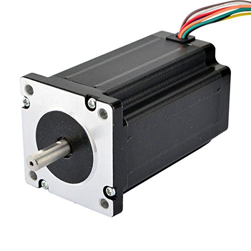 Stepperonline - Motor paso a paso Nema 24 de doble eje 4 Nm de longitud de 8 cables para máquina CNC de grabado láser/CNC