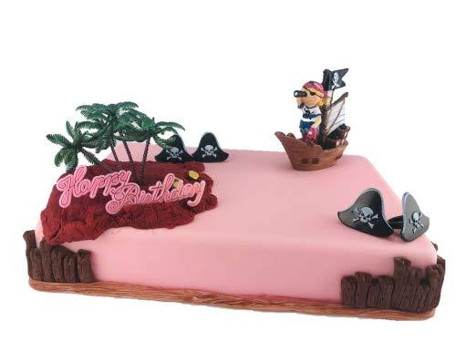 Tortendekoration Piraten-Mädchen im Segelschiff