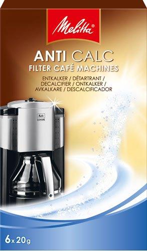 Melitta Anti Calc Filter Café Machines, Entkalker-Pulver für Filterautomaten - 120g - 4x